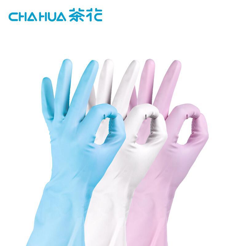 茶花C78012PVC耐用手套随机色(M)54.2g(双)