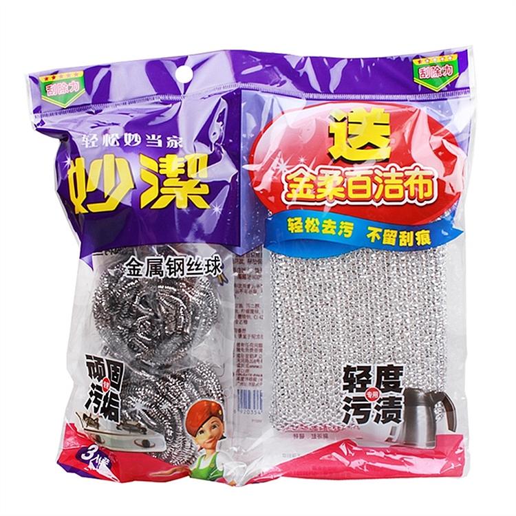妙洁 MHBC3 金属钢丝球 3只装 (单位:包)