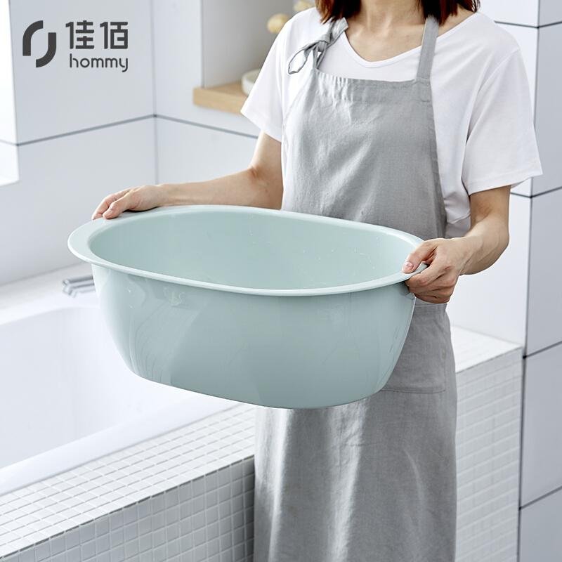 佳佰婴儿洗澡盆塑料脸盆多用盆大号北欧绿(个)