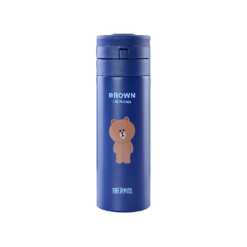 膳魔师JNS-351-LF002不锈钢真空保温杯蓝色350ml(只)