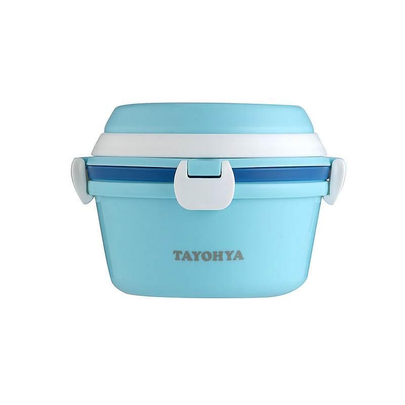 多样屋 TA010302031ZZ 粉晶圆形提手双层便当盒套组蓝粉 (单位:套)