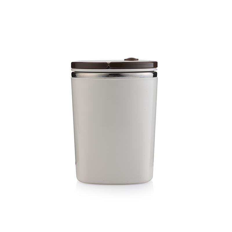 多样屋 TA010302028ZZ 雅致便携提手餐桶白 350+75mL (单位:个)