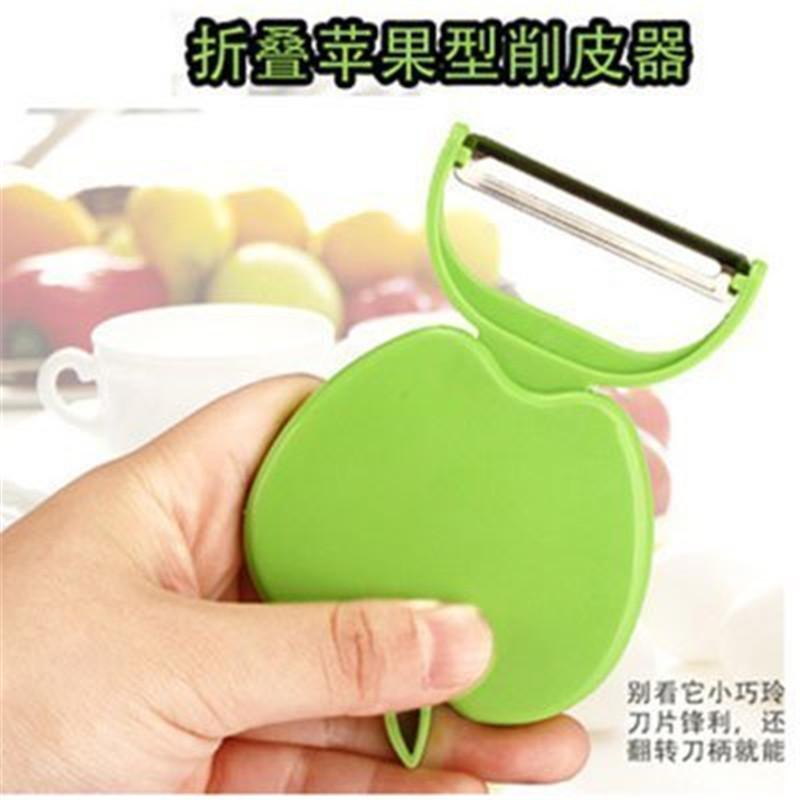 博采苹果型削皮器瓜果折叠刨皮刀9.5*6*1cm(单位:个)