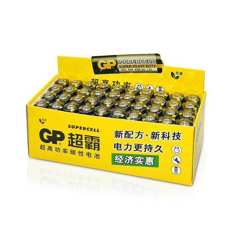 超霸GP15PL-BJ4五号4粒环保碳性电池40粒/盒(粒)