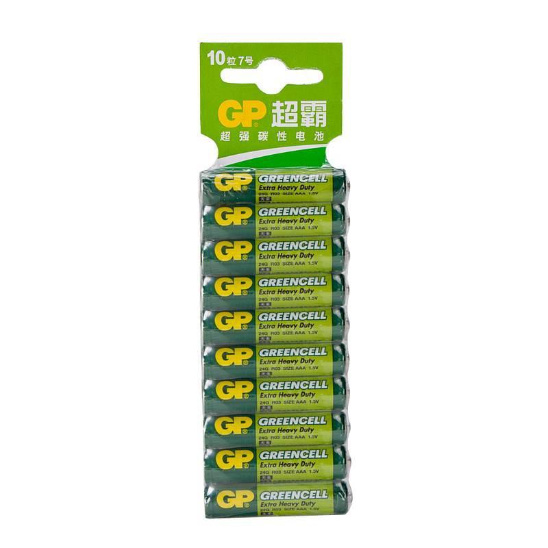 超霸GP24G-2ISP10七号碳性电池10粒卡装(卡)