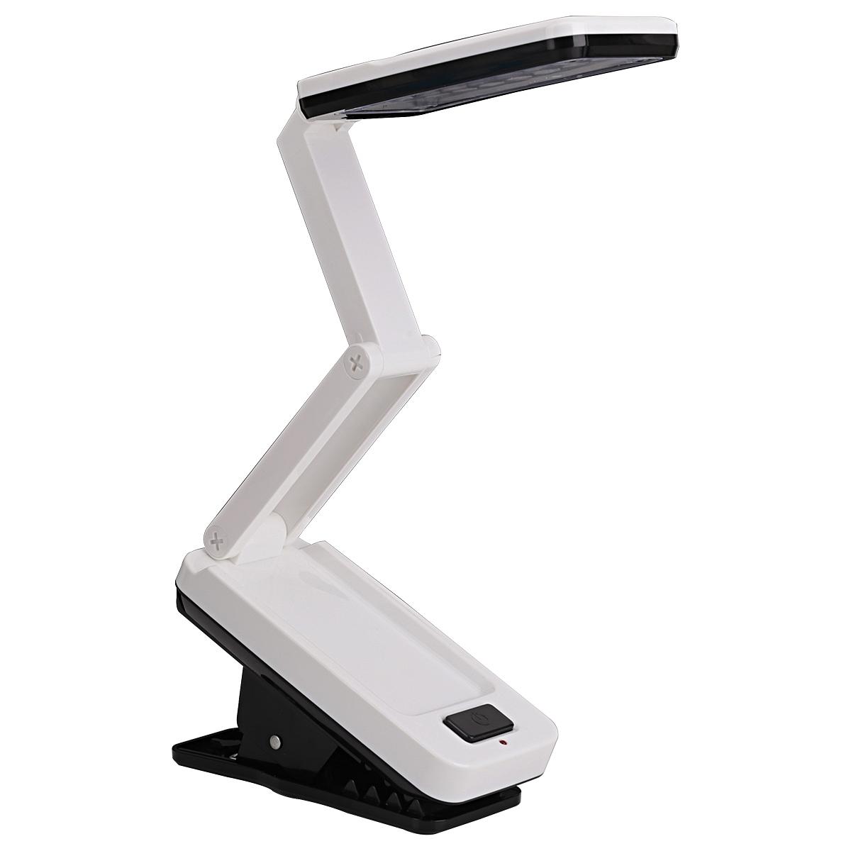 得力 3679 夹式折叠台灯灯具 153x105x67mm (单位:个) 白色