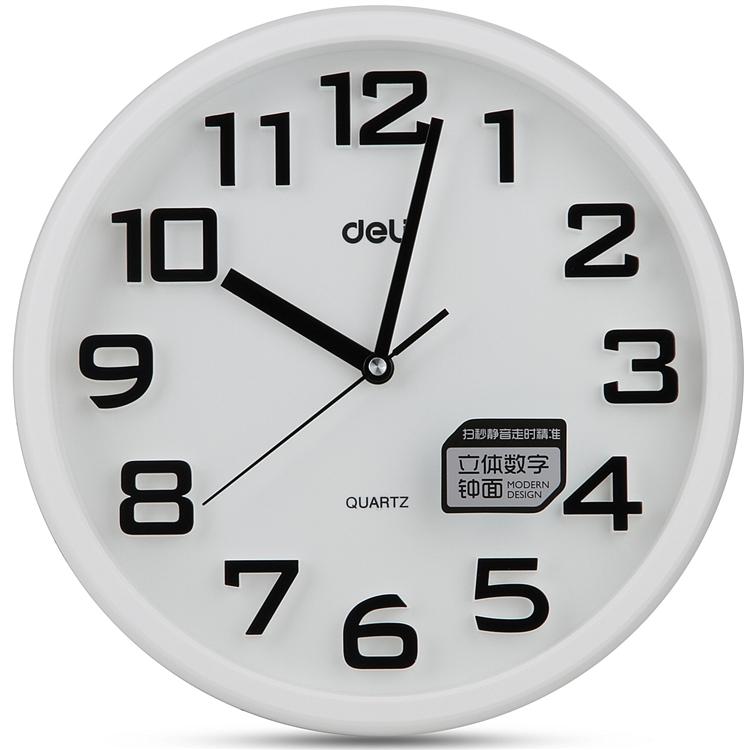 得力8948挂钟/时钟(白)(个)