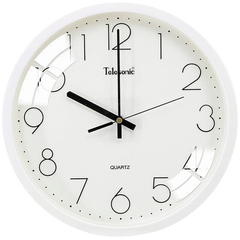 天王星 S9651-1 静音时钟白色钟表 12英寸 (单位:个) 白色
