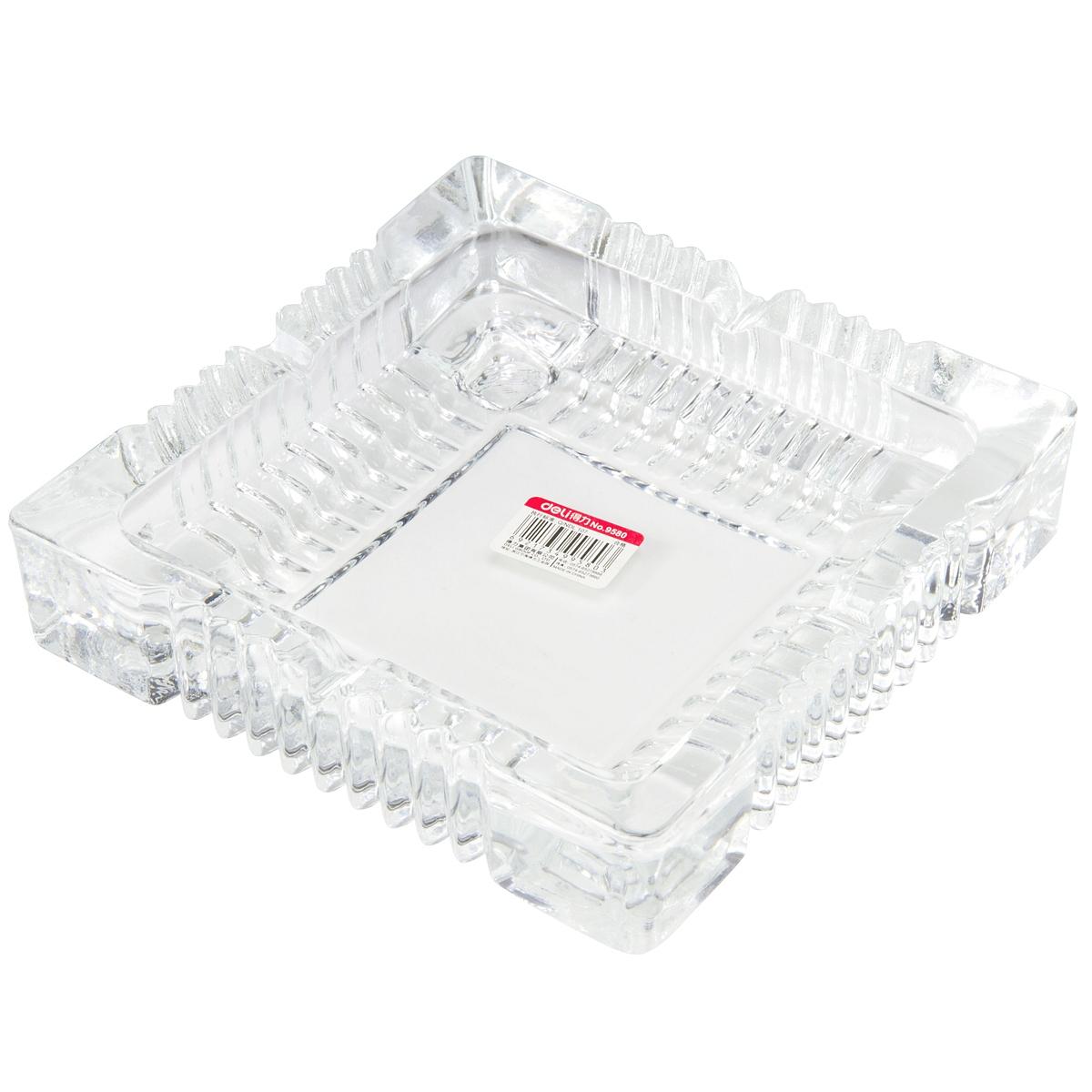 得力 9580 玻璃烟灰缸 (单位:只) 透明