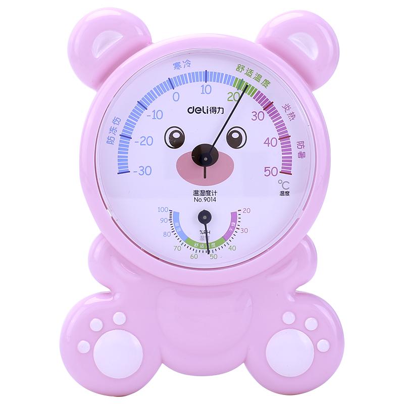 得力 9014 儿童房温湿度计 (单位:只) 混色