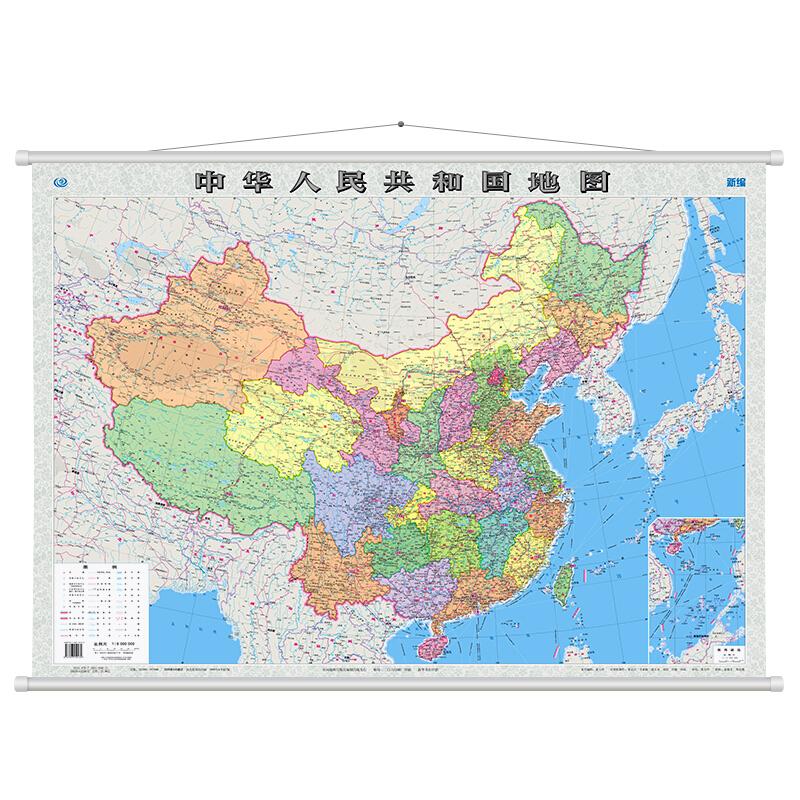 博采国产中国地图挂图110*80cm(个)
