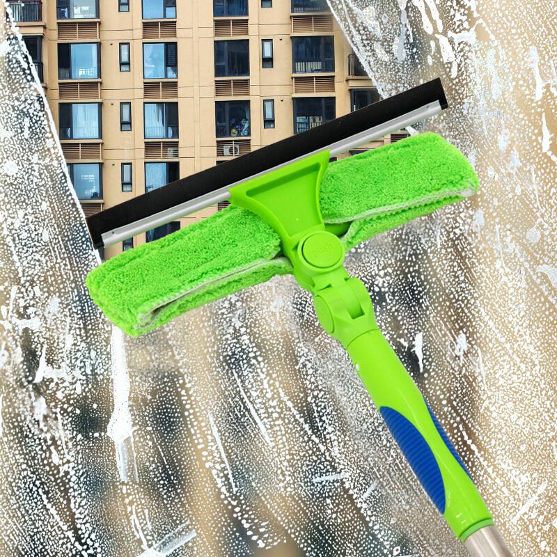 伊司达 EAST 擦玻璃器高空加长擦窗器刮水器清洁工具3米 绿色(个)