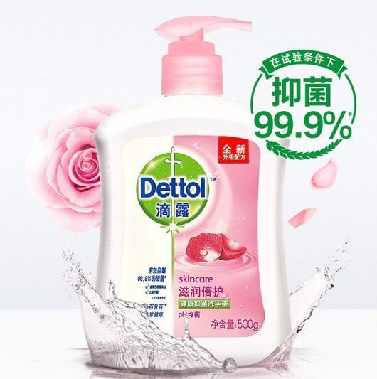滴露D-500 洗手液 健康抑菌 滋润倍护 500g(瓶)