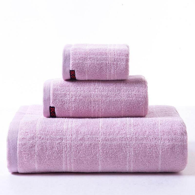 纯棉花式线提缎厚实毛浴方三件套 (套)