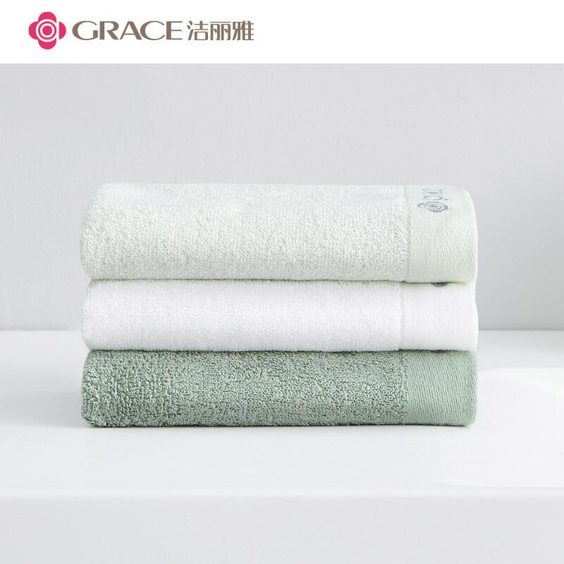 洁丽雅竹桨纤维毛巾家庭超值三条装92g*3(组)
