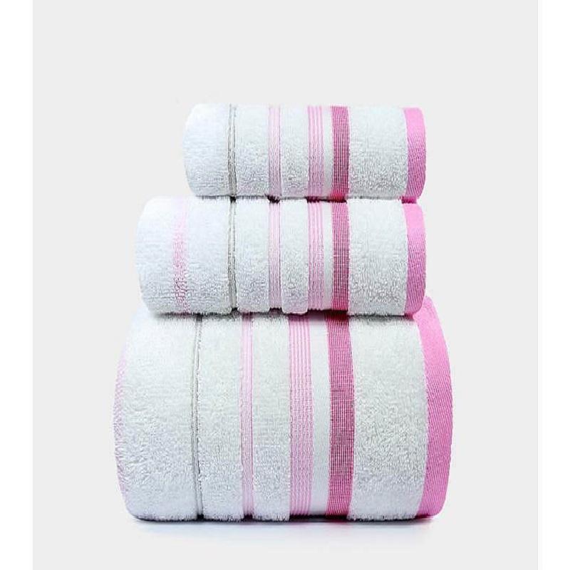 洁丽雅毛纯棉吸水舒适浴巾面巾方巾套装三件套(组)
