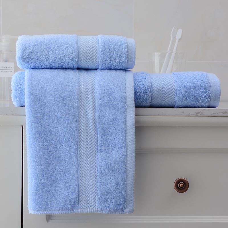洁丽雅纯棉亲肤素色浴巾毛巾方巾三件套组合 三件套(组)