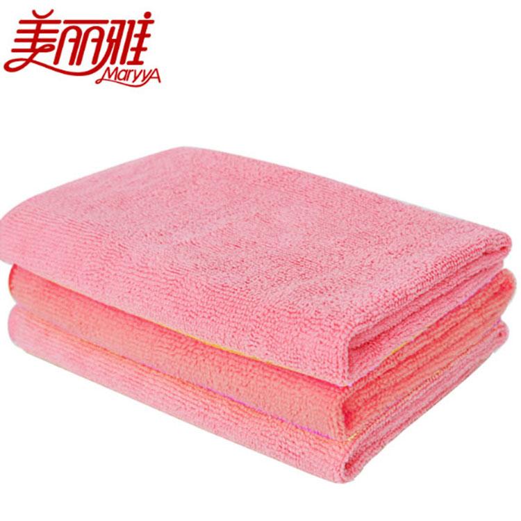 美丽雅 清洁布HC060302 40*40cm微纤维3片/包 粉色(单位:包)
