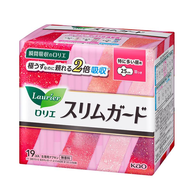 花王乐而雅speed+零触感特薄长时间日用卫生巾25cm*19片(包)