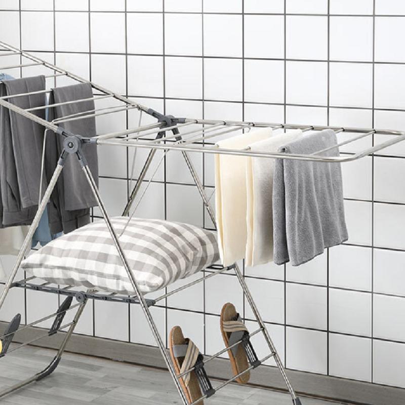 尚雅宜居晒衣架不锈钢可折叠落地翼型室内外晾衣架翼展163cm(个)