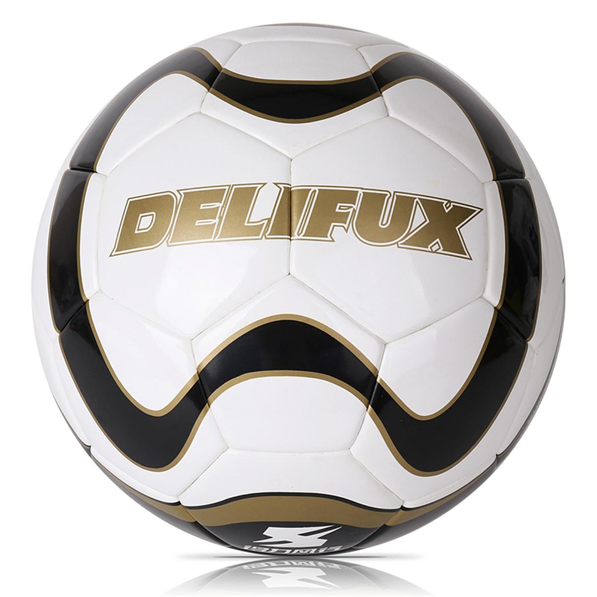 得力风行F1202PU5号贴片足球 球类(白+黑)(个)