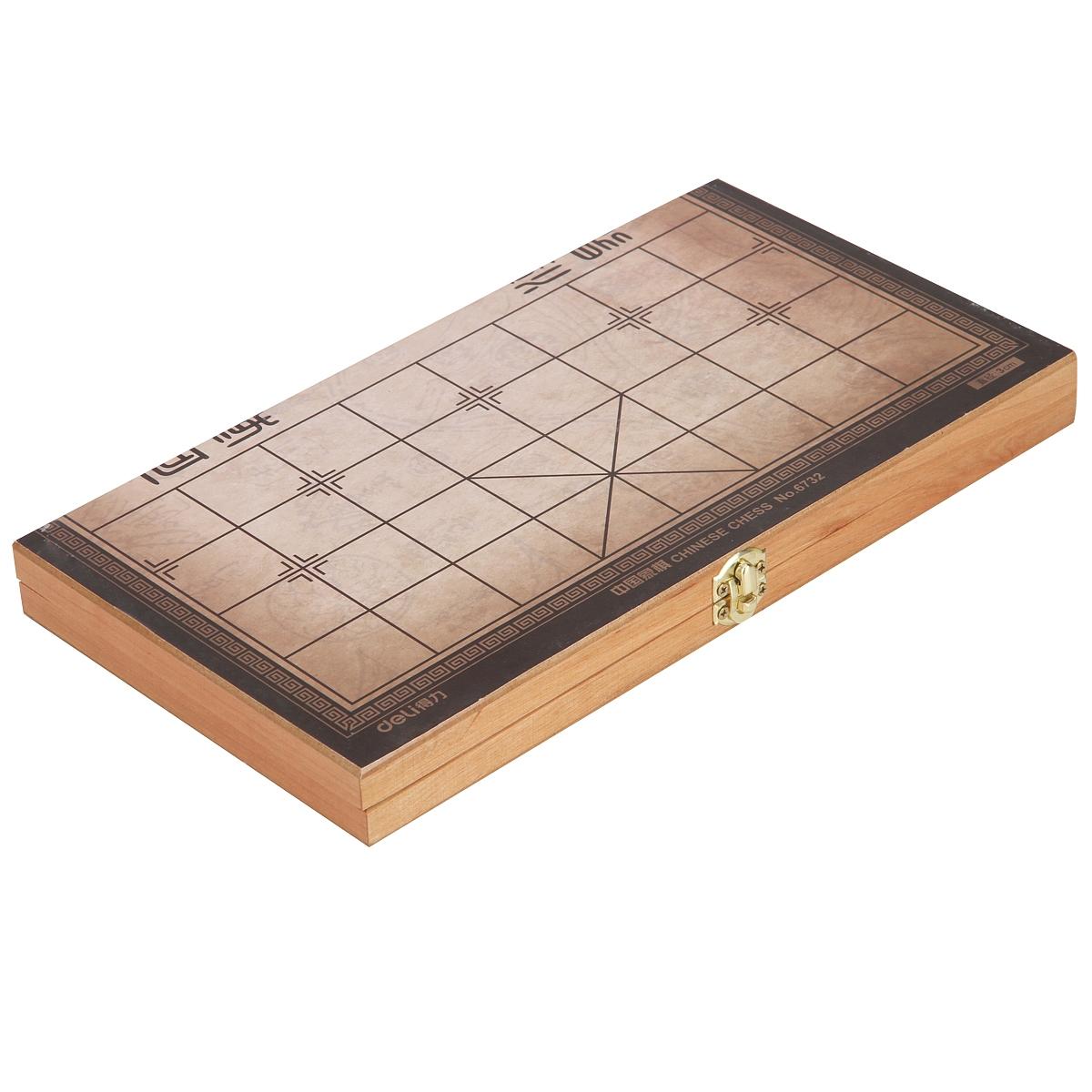 得力 6732 中国象棋 30mm (单位:盒) 原木色