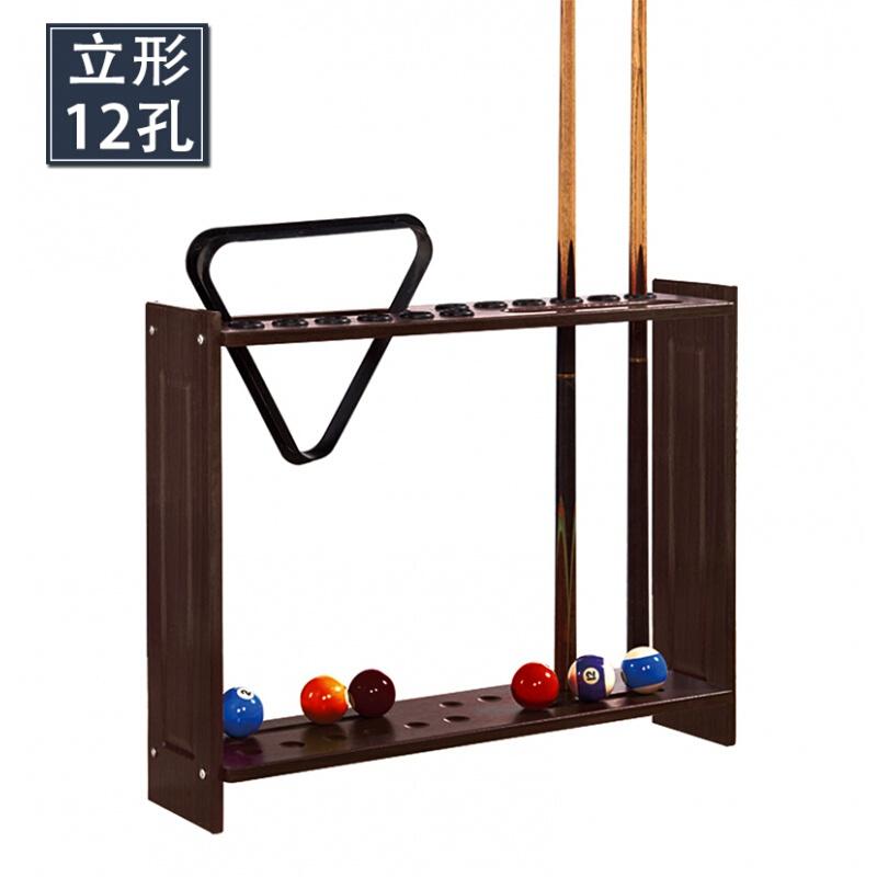 博采 球杆杆架落地杆架 立形12孔台球杆架深咖色(个)