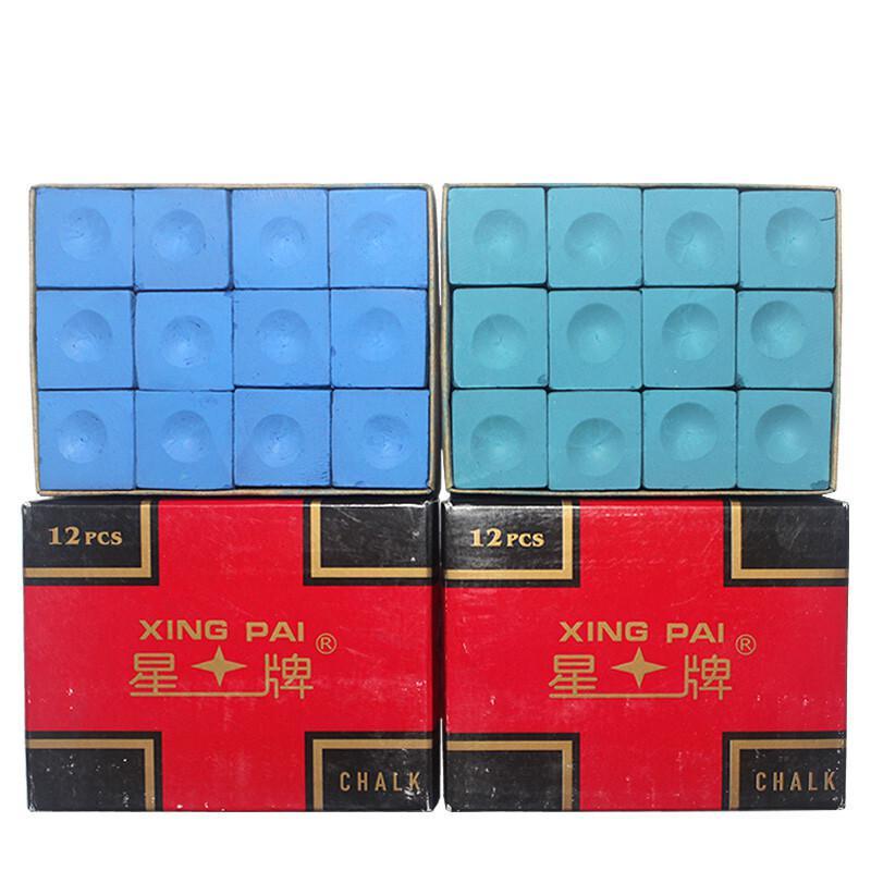 星牌巧克粉蓝色油性整盒12粒/盒(单位:盒)