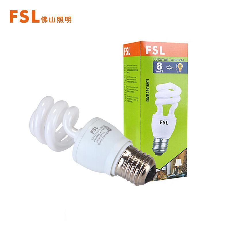 佛山照明E27大螺口T3螺旋型节能灯8W(个)