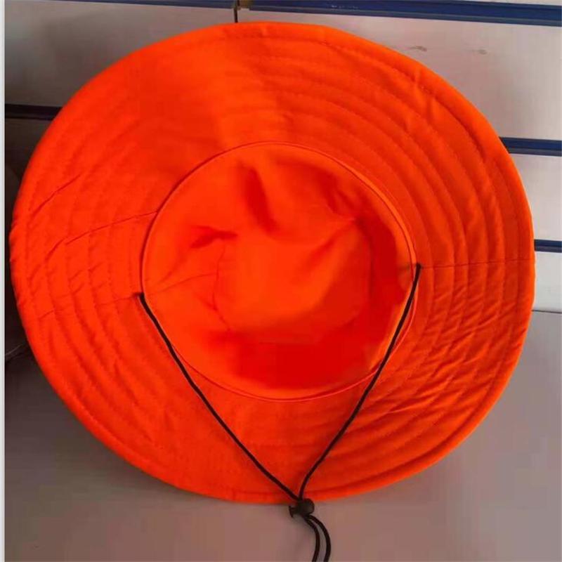 诺诚 环卫帽子 圆顶草帽款 橘色 均码(单位:顶)