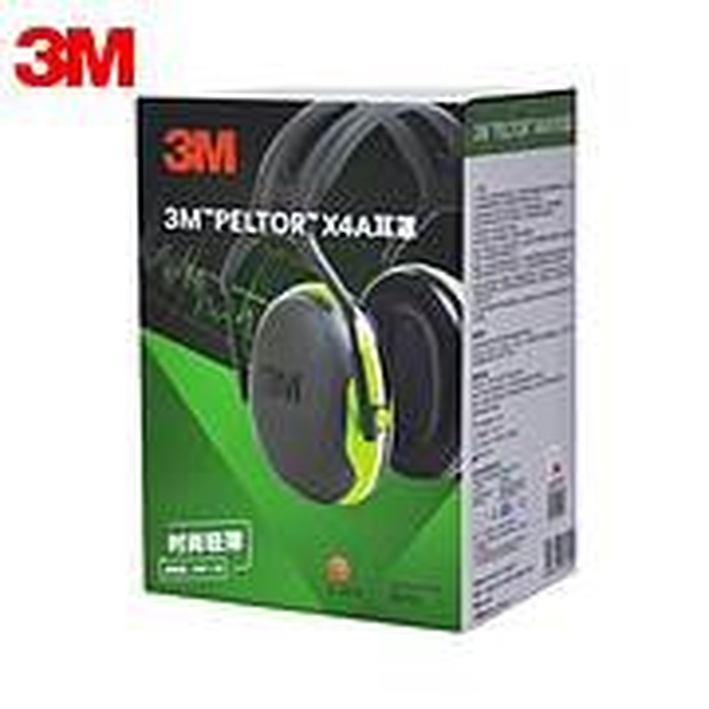 3M X4A 头戴式耳罩 黑绿(单位:副)