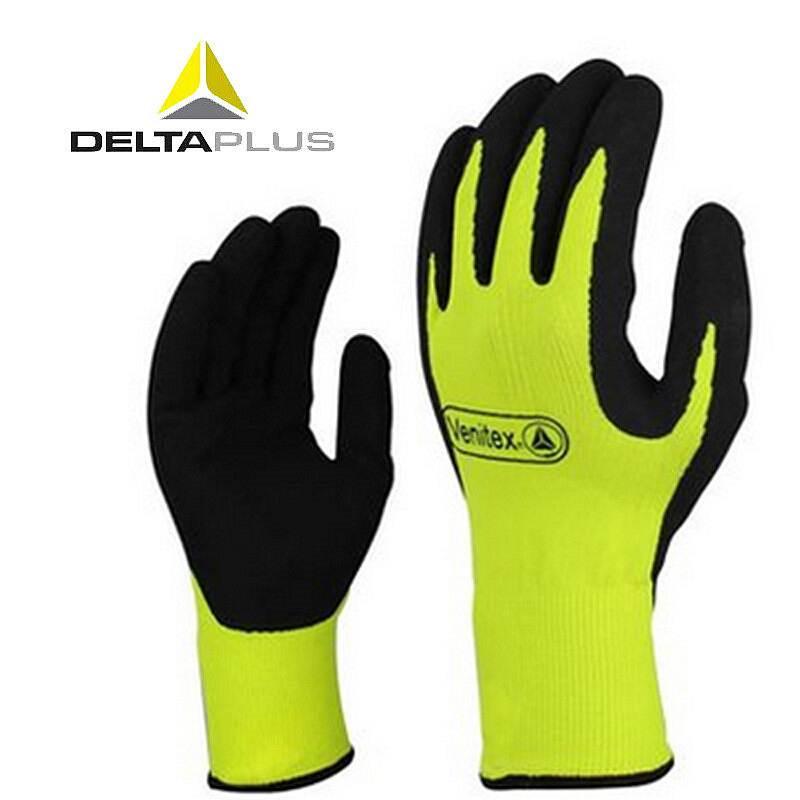 代尔塔 201733 乳胶发泡手套(VV733)黄色(单位:双)