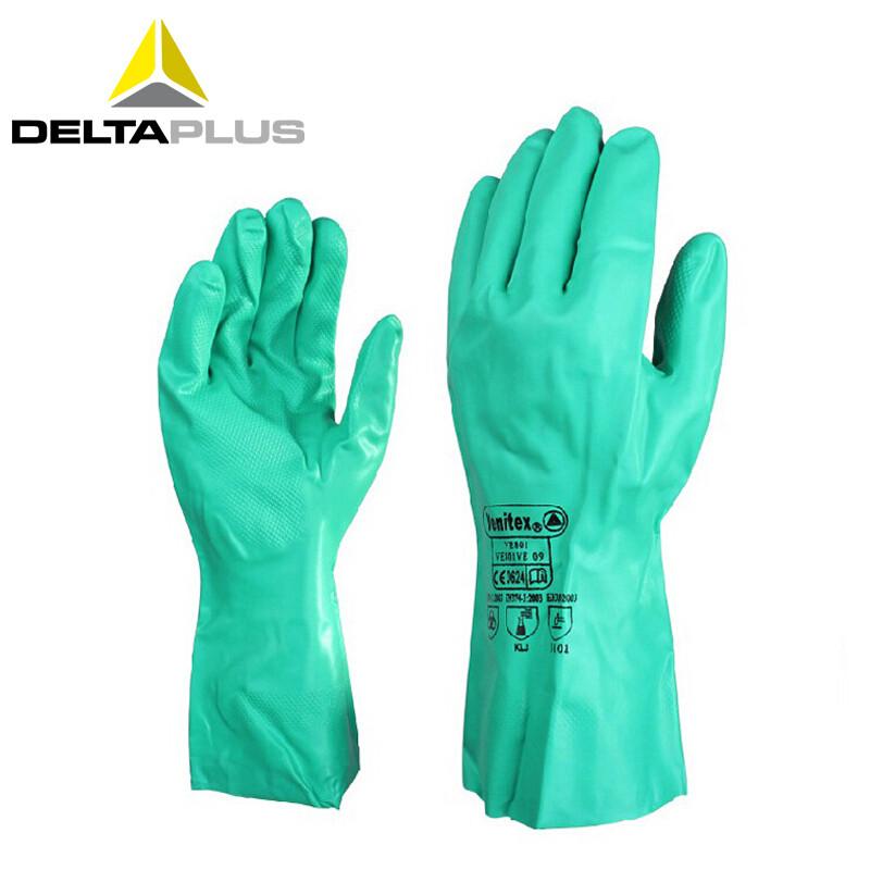 代尔塔 201802 舒适型耐油手套(VE802)绿色(单位:双)