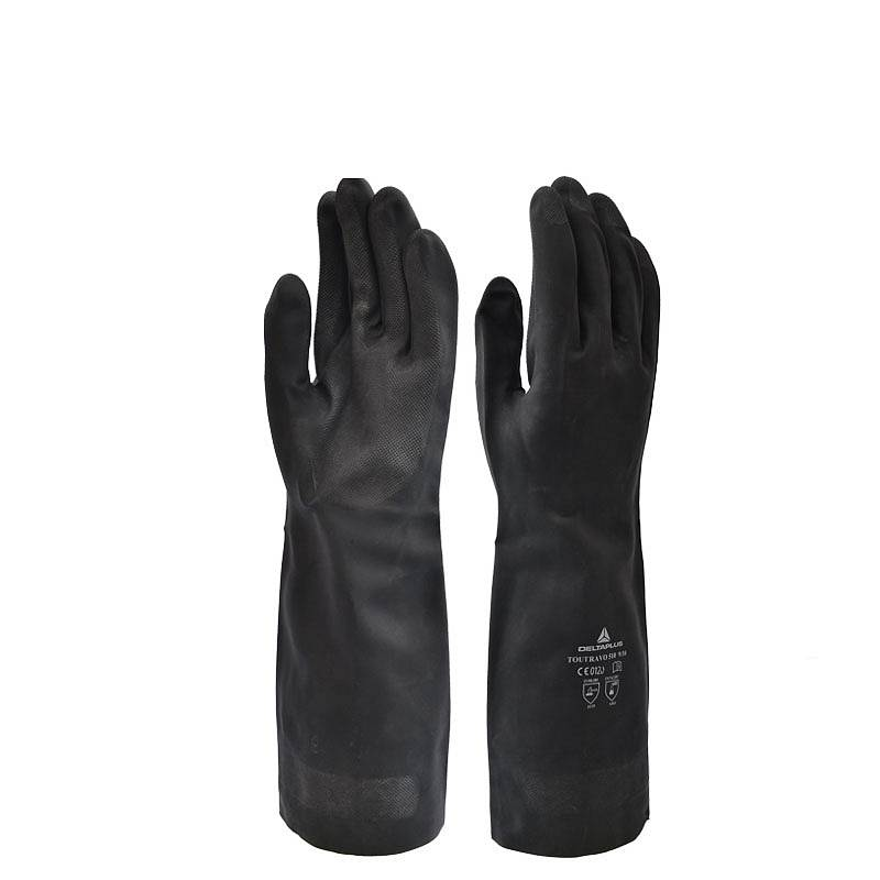 代尔塔 201510 高性能防化手套氯丁橡胶(VE510)黑色(单位:双)