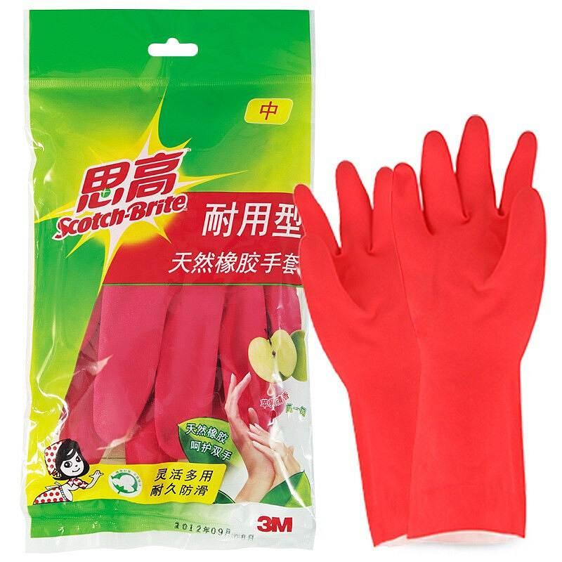 3M 思高中号耐用型手套 1双/包 (单位:包)