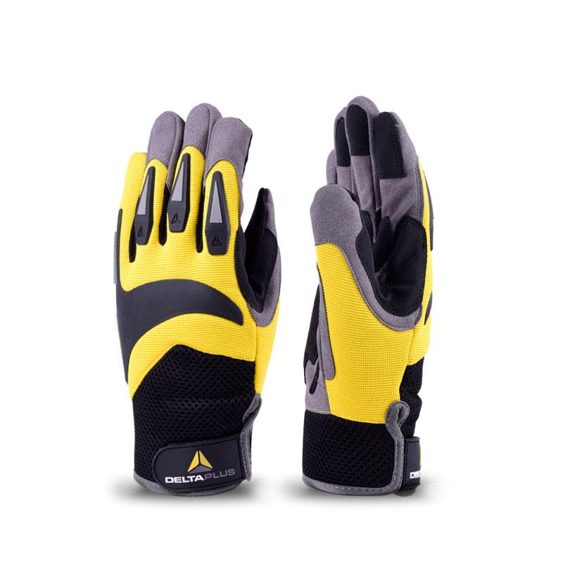 代尔塔 209902 高空户外手套高空攀登(VV902)黄黑色 (单位:双)