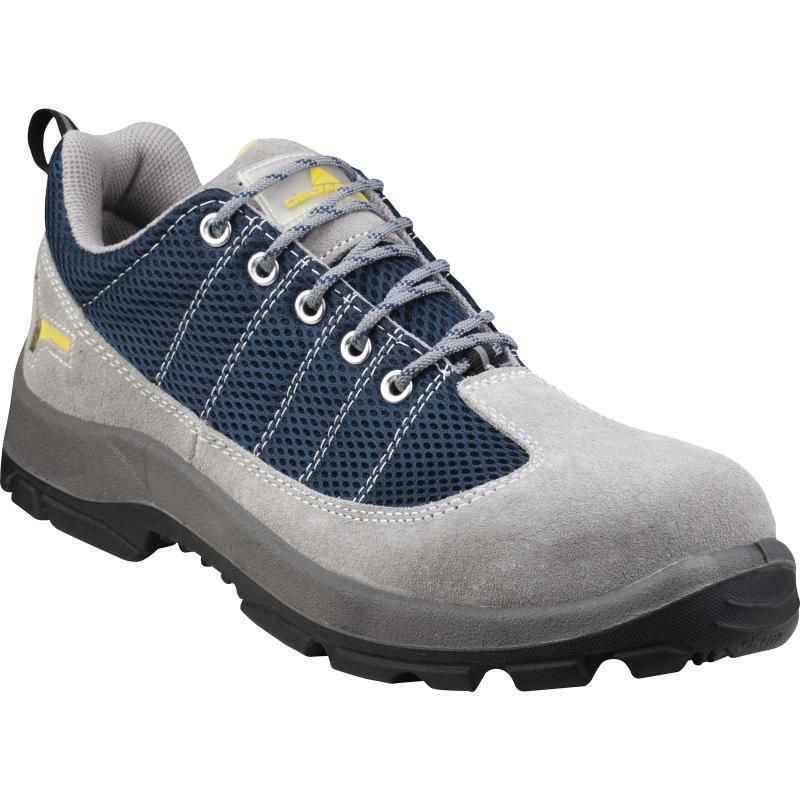代尔塔 301232 防砸防刺穿防滑防静电透气安全鞋灰蓝色 35码(双)