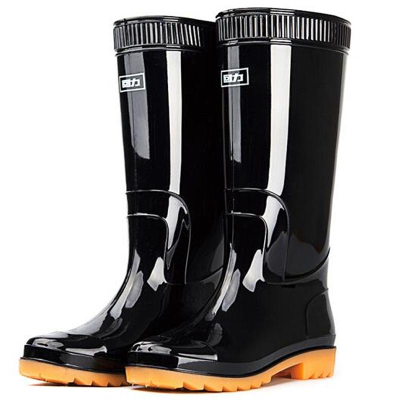 回力HXL807 雨鞋男式中筒防水雨鞋黑色(双)