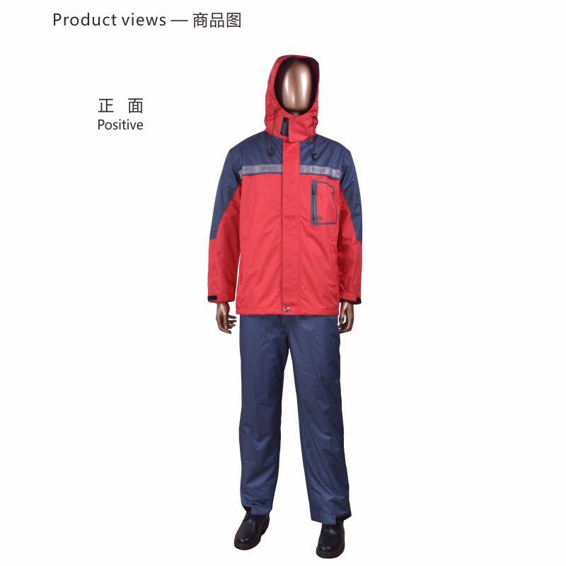 安大叔 CMCC-015男雨衣套装红S-4XL (单位:件)