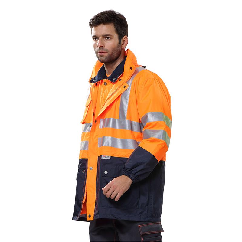 安大叔80504高警示多功能防寒服荧光橙(件)
