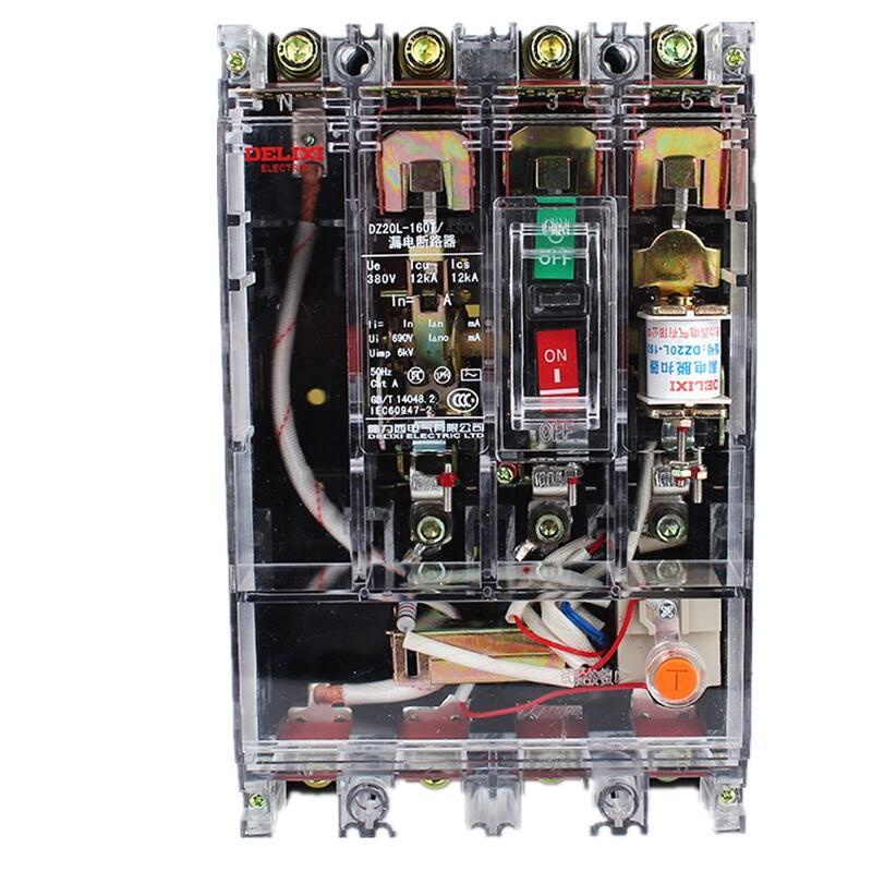 德力西DZ20LE-400T/4300四极漏电保护器400A/≤0.2S0(个)