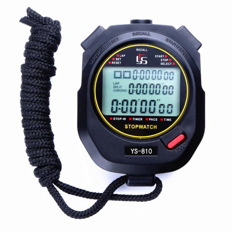 乐往三排60道电子秒表计时器裁判记忆秒表(个)