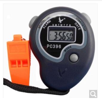 天福秒表计时器 多功能跑步电子秒表 体育运动田径训练比赛专业跑表学生教练 单排2道 PC396(个)