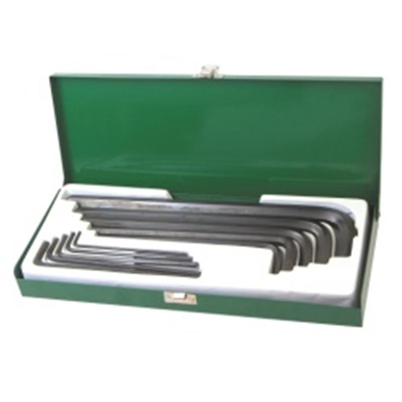得力工具DL3210内六角扳手套装铁盒平头10件套3-17