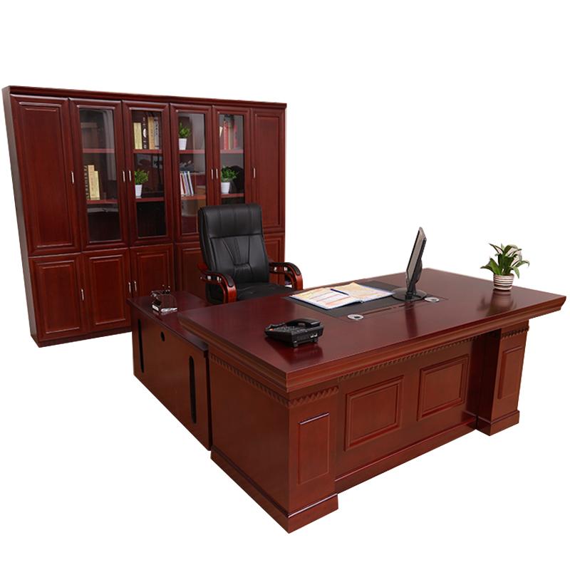 博采1.8*0.9m老板桌带大小柜(单位:件)