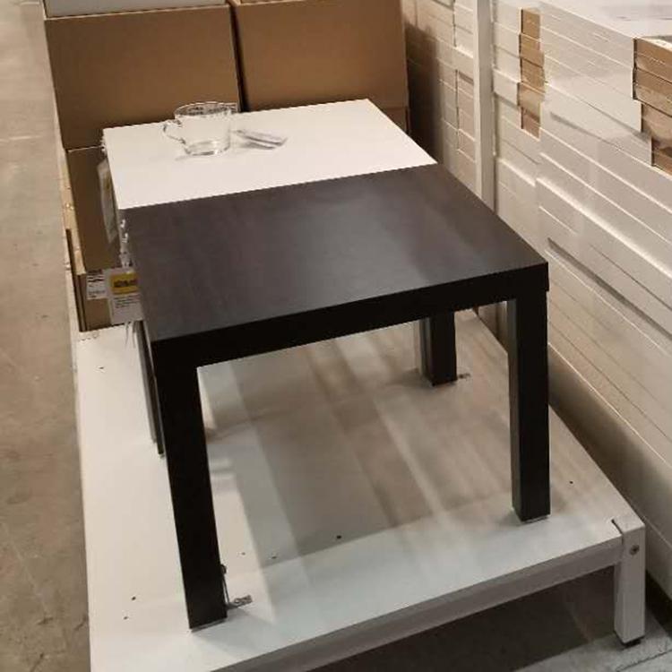 宜家IKEA55*55拉克边桌黑褐色(个)