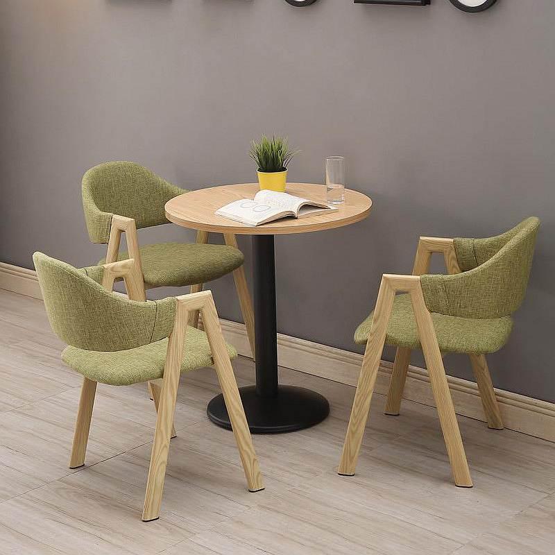 钱柜QG2020033103简约洽谈接待桌椅组合一桌三椅(单位:套)