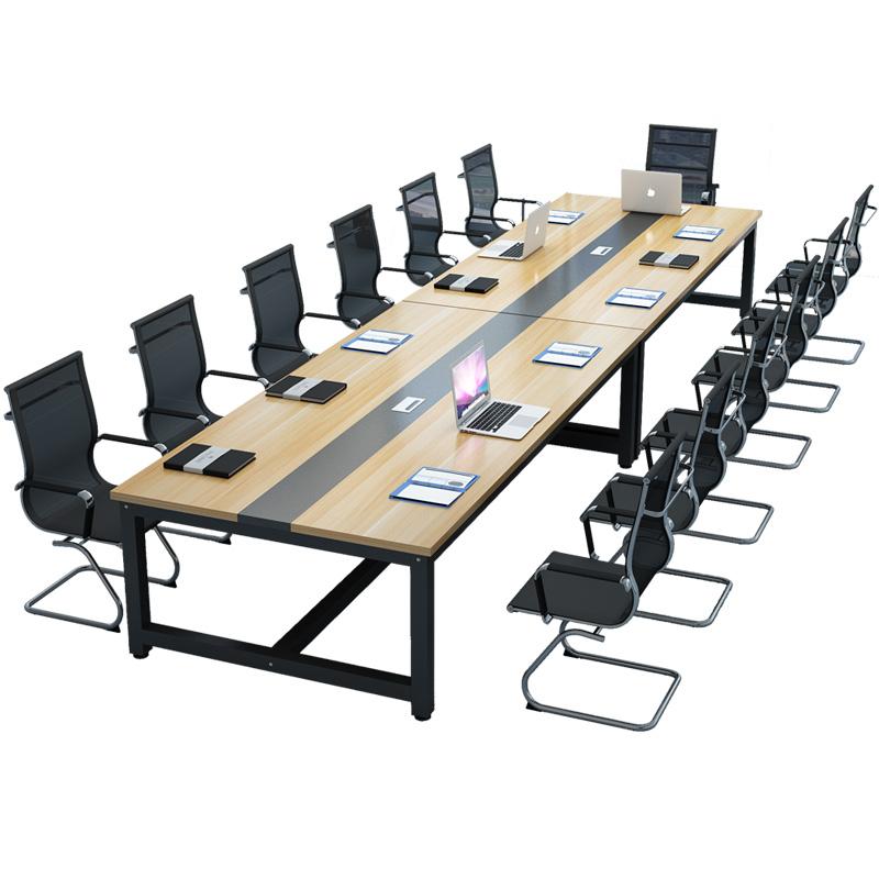 钱柜QG2021073012会议桌长桌工作台培训桌4.8*1.2米不含椅(张)