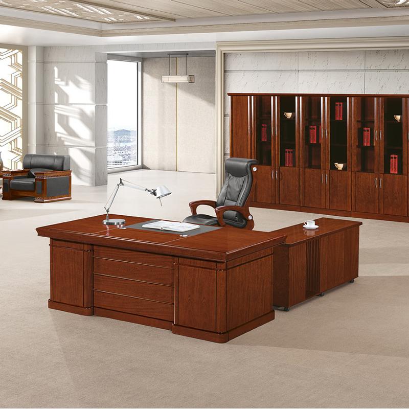 洛克菲勒LK-1617A油漆班台班桌办公桌含活动柜副柜1600*800*760mm(单位:张)红胡桃色