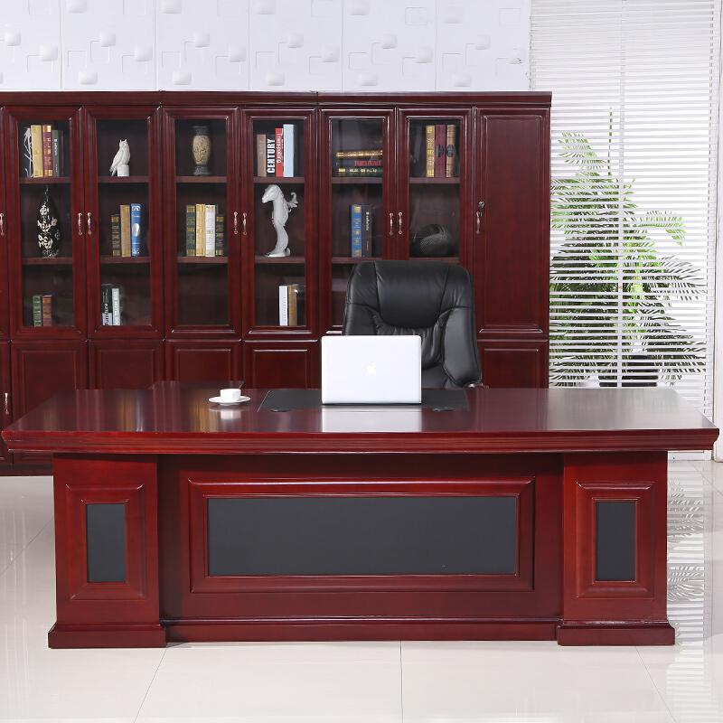 钱柜QG100002567196老板桌总裁卓经理桌2米含副柜(台)